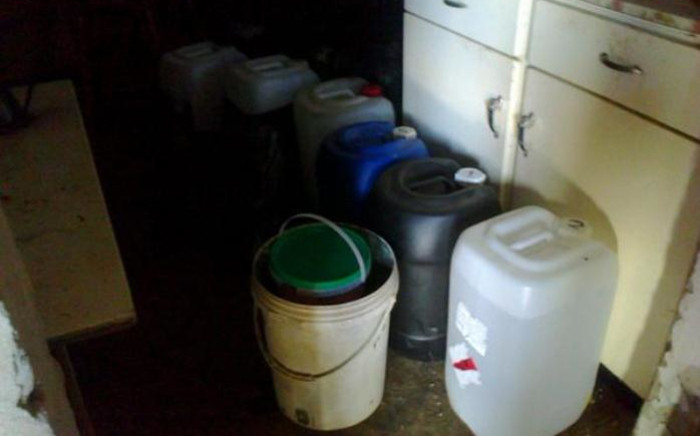 Plastic drums containing tik and khat chemicals. Picture: SAPS.