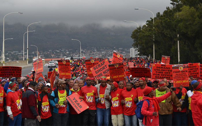 FILE: Numsa members in Cape Town take part in a march marking the start of a national strike on 1 July 2014. Picture: EWN.