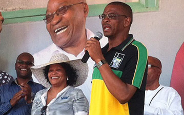 Free State premier Ace Magashule addressing a crowd of ANC supporters during the pary's centenary celebrations on 6 January 2012. Picture: Tshepo Lesole/EWN