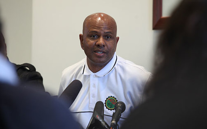 FILE: AMCU President Joseph Mathunjwa speaks during a media briefing about the Lonmin peace deal. Picture: Taurai Maduna/EWN.