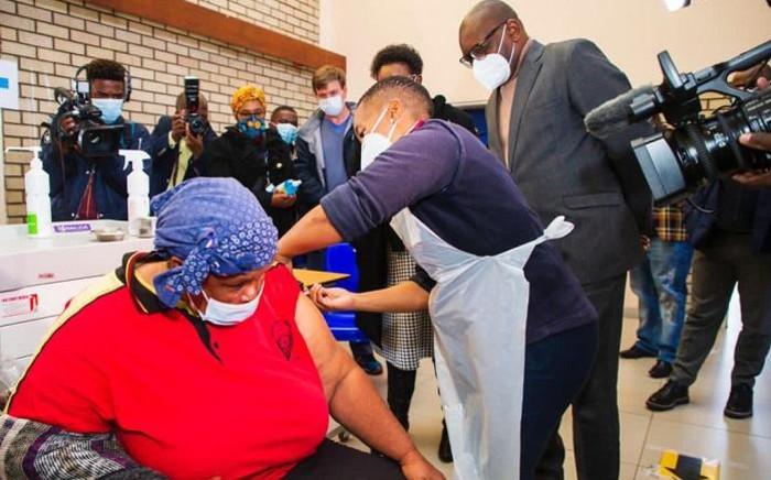 FILE: David Makhura visited Chris Hani Baragwanath Hospital on Saturday, 12 June 2021. Picture: Gauteng Province.