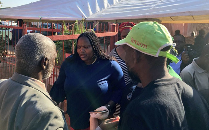 Community Safety MEC Sizakele Nkosi-Malobane visiting the family of Katlego Joja, who was found dead in Mamelodi on 6 May 2018. Picture: Katleho Sekhotho/EWN