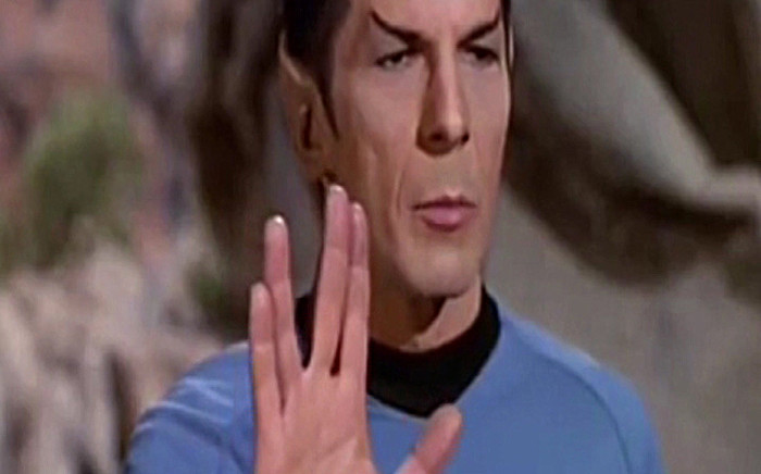 A screen grab from CNN's report on the death of Leonard Nimoy, one of science fiction's most iconic actors. Picture: CNN