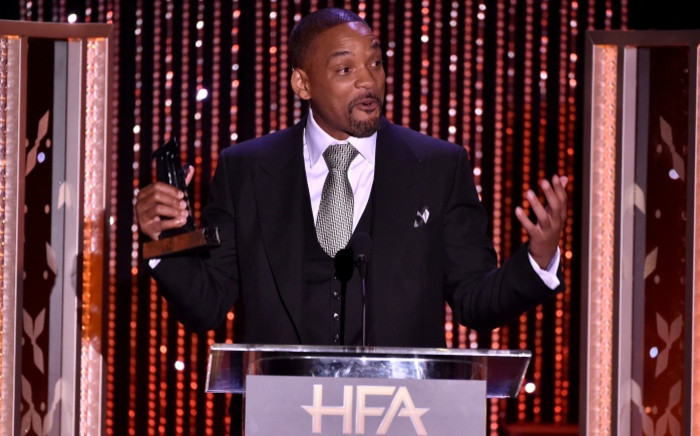 """Will Smith accepts the Hollywood Actor Award for 'Concussion'"""" onstage during the 19th Annual Hollywood Film Awards at the Beverly Hilton Hotel on 1 November 2015 in Beverly Hills, California. Picture: Getty Images/AFP."""