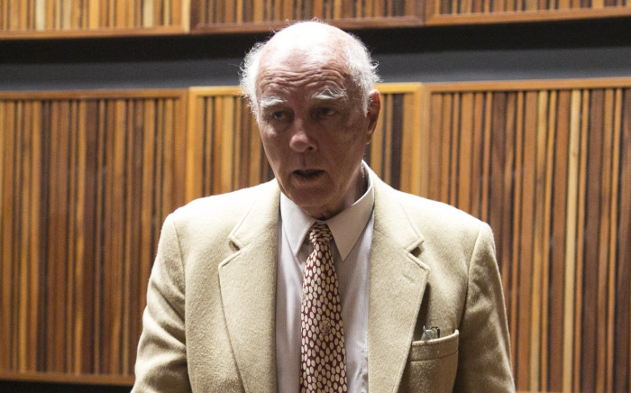Former South African tennis star Bob Hewitt in the Palm Ridge Magistrate's Court where he faces charges of rape and indecent assault. Picture: Kgothatso Mogale/EWN.