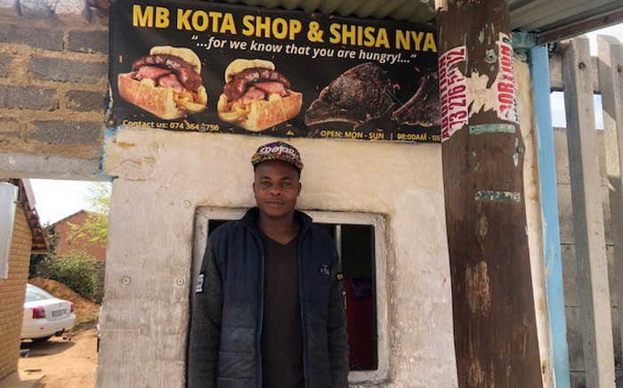 Brandon Mpofu from Cosmo City, is battling to keep his business afloat post-COVID-19, and is now also hvaing to deal with loadshedding. Picture: Mia Lindeque/EWN
