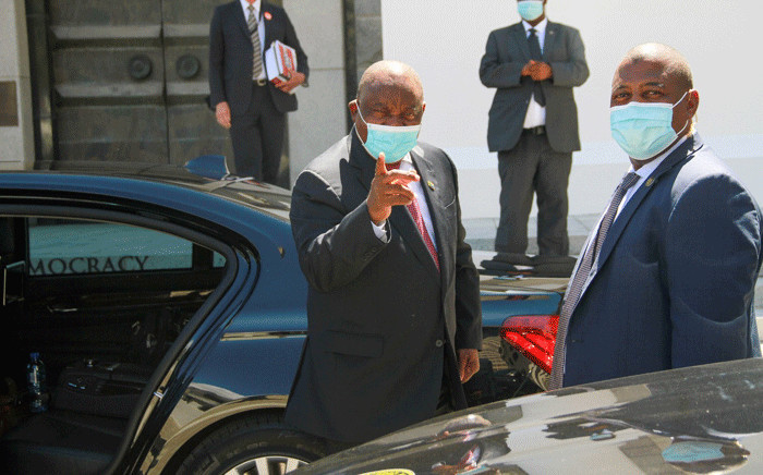 FILE: President Cyril Ramaphosa (pointing). Picture: GCIS.