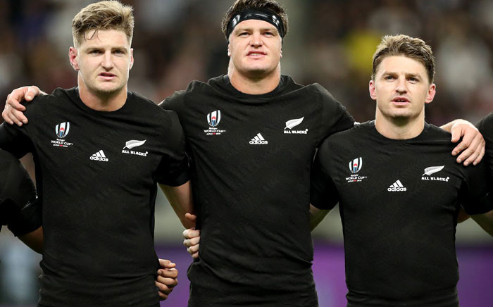 The Barret brothers pictured before their Rugby World Cup match on 2 October 2019. Picture: @AllBlacks/Twitter
