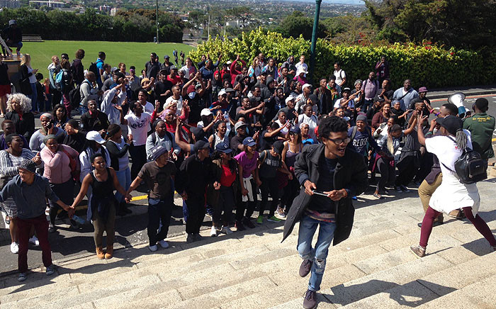 FILE: University of Cape Town student protest on campus grounds on 20 September 2016. Picture: Lauren Isaacs/EWN.