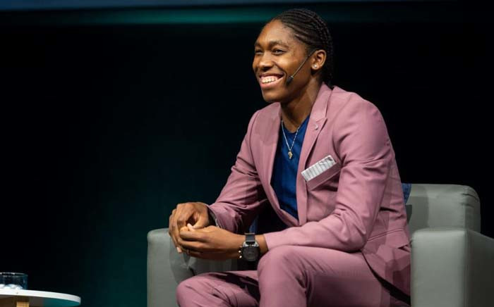 South African track star Caster Semenya speaks at the 2018 Discovery Leadership Summit in Johannesburg on 1 November 2018. Picture: @Discovery_SA/Twitter