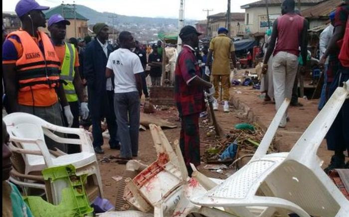 FILE: The scene of the twin bombings in Jos, Nigeria, on 6 July 2015. Picture: Samson Omale/EWN.