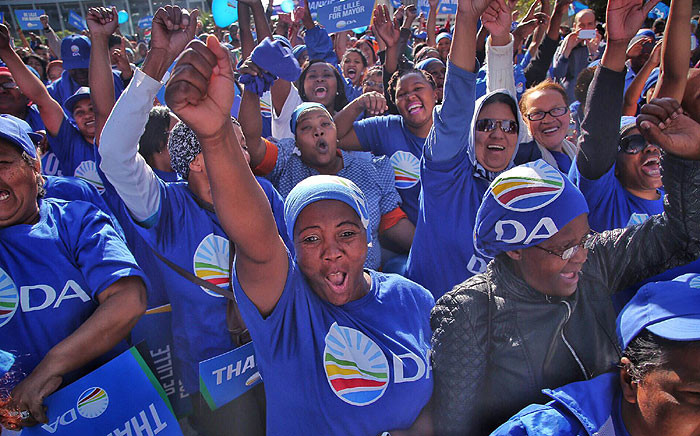 FILE: DA supporters cheer during a rally to celebrate election results on 5 August 2016. Picture: Aletta Harrison/EWN.