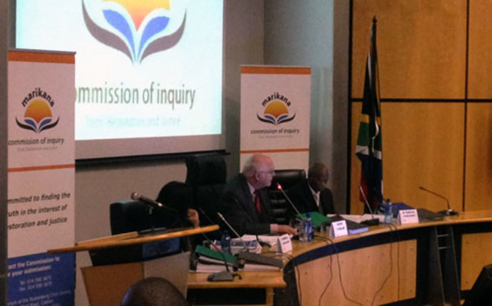 Retired South African Judge Ian Farlam at the Marikana Commission of Inquiry. Picture: Gia Nicolaides/EWN
