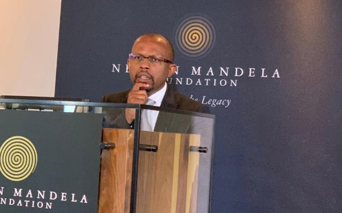 CEO of the Nelson Mandela Foundation, Sello Hatang, during the launch of a new Mandela Day strategy. Picture: @NelsonMandela/Twitter.