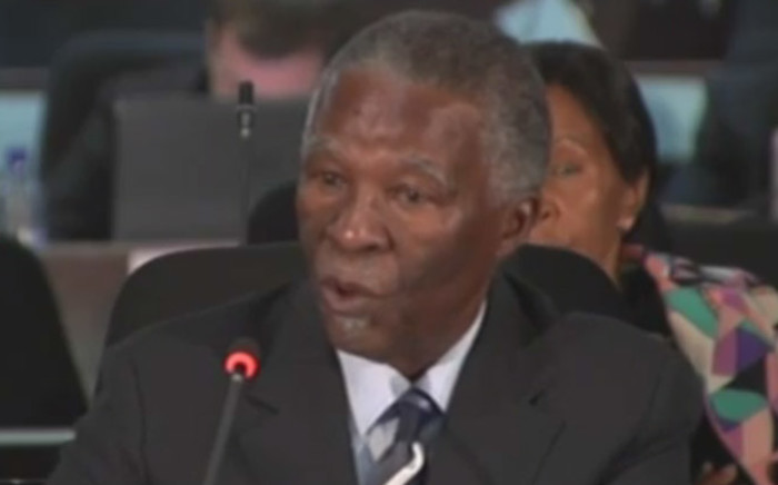 Former South African President Thabo Mbeki. Picture: screen grab.