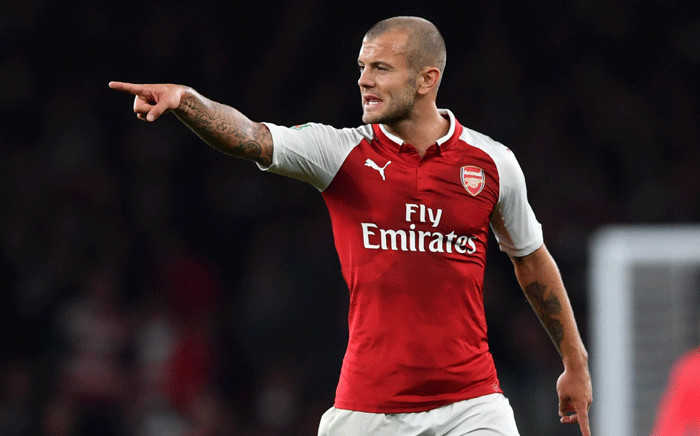 Arsenal's English midfielder Jack Wilshere gestures during the English League Cup third round football match between Arsenal and Doncaster Rovers at The Emirates Stadium in London on 20 September 2017. Picture: AFP