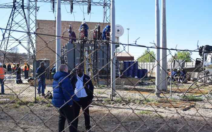 City Power officials and technicians working on restore electricity at the Eikenhof Power Station. Picture: @CityPowerJhb/Twitter.