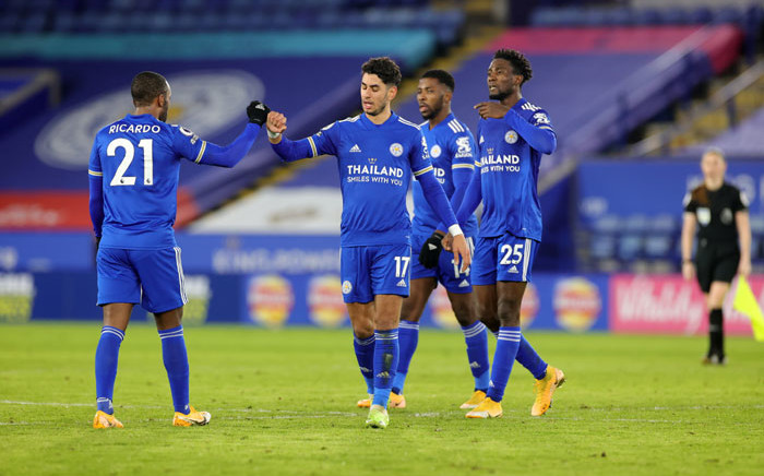Leicester City players celebrate their win over Chelsea on 19 January 2020. Picture: @LCFC/Twitter