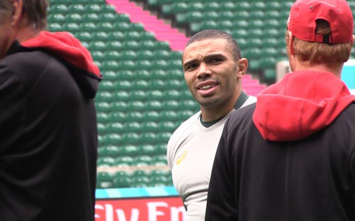 Springbok wing Bryan Habana during training at Twickenham Stadium. Picture: Vumani Mkhize/EWN.