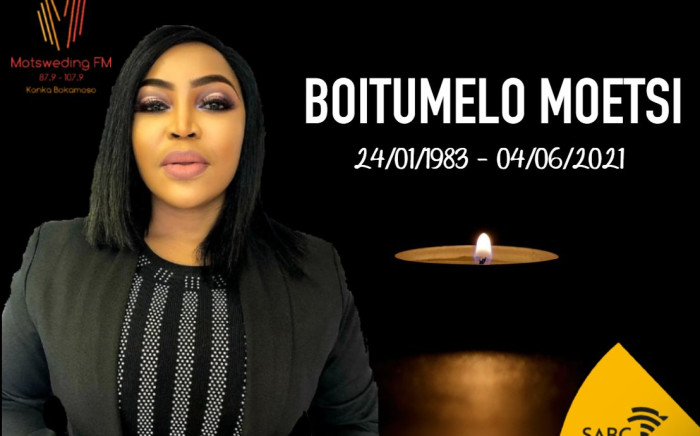 Motsweding FM presenter Boitumelo Moetsi has passed on at the age of 38. Picture: Twitter/@motswedingfm