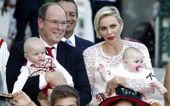 FILE: Prince Albert II and his wife Princess Charlene of Monaco with their twins, Prince Jacques and Princess Gabriella. Picture: AFP
