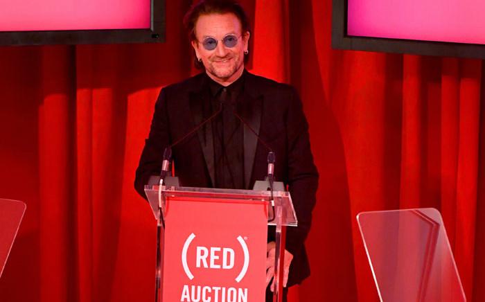 U2's Bono. Picture: AFP