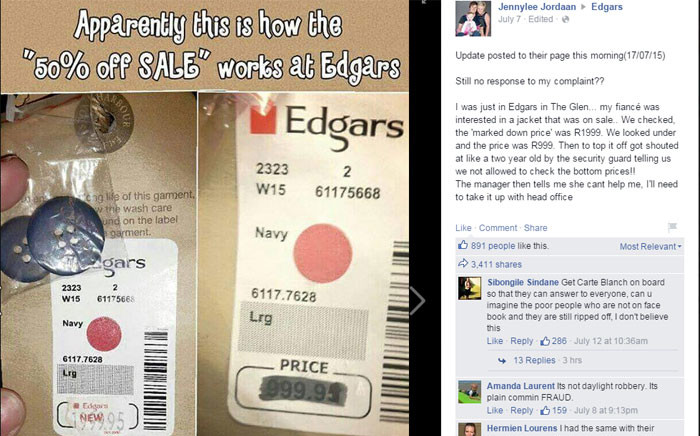 Angry customers have complained about a rip-off sale on popular items at the retail store. Picture: Facebook