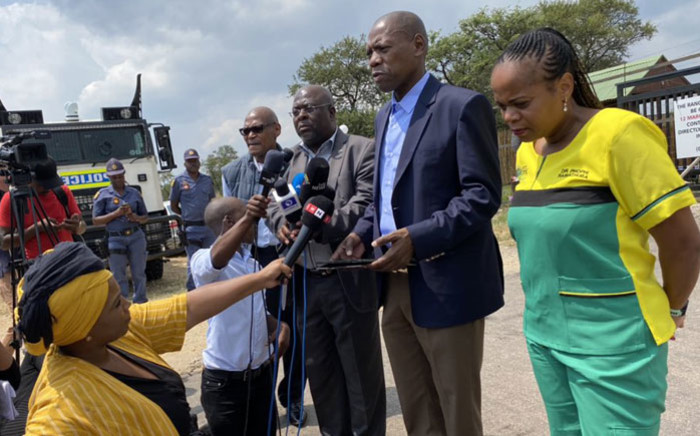 Health Minister Dr Zweli Mkhize gives an update on the coronavirus situation in South Africa on 13 March 2020. Picture: Abigail Javier/EWN