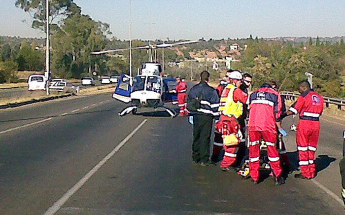 A file picture of paramedics attending to injured passengers after a road accident. Picture: ER24
