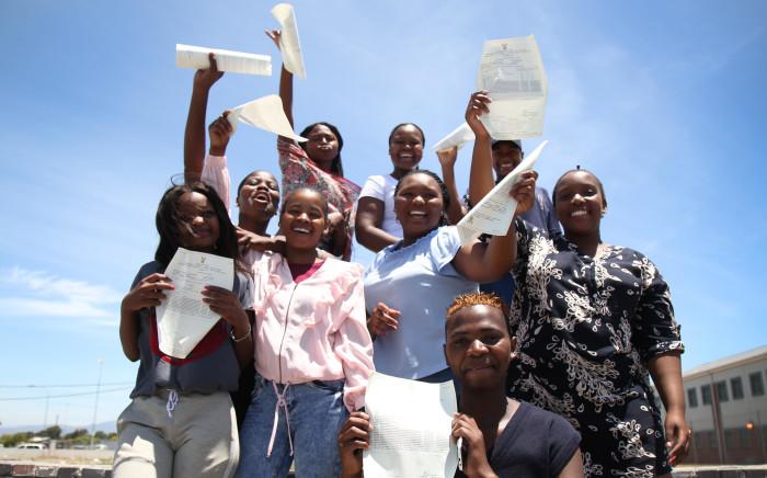 FILE: A New Eisleben pupils celebrate after passing their 2017 Matric exams. Picture: Bertram Malgas/EWN.