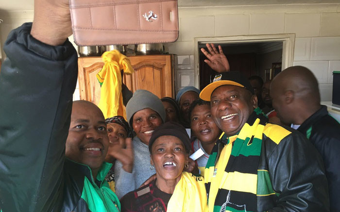 Deputy President Cyril Ramaphosa poses for a picture during a campaign in Tembisa on Sunday 24 July 2016. Picture: @MYANC via Twitter.