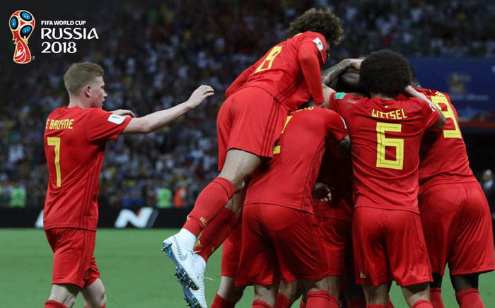 Belgium celebrates after their 2018 Fifa World Cup victory over Brazil on 6 July 2018. Picture: @FIFAWorldCup/Twitter