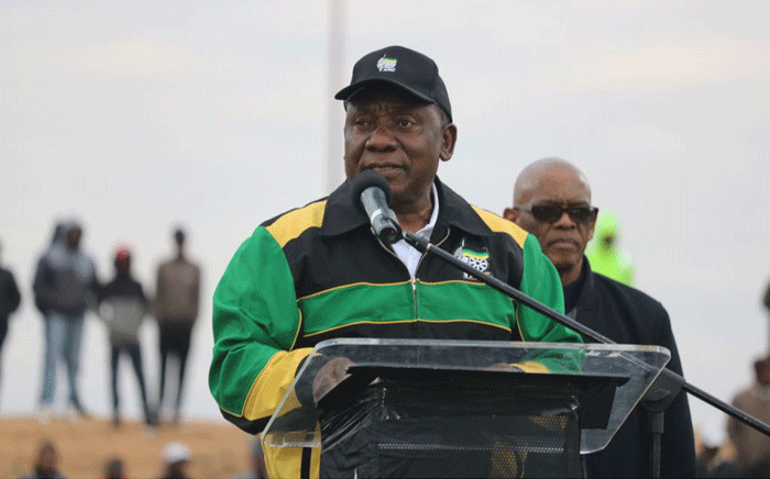 ANC president Cyril Ramaphosa. Picture: @MYANC/Twitter