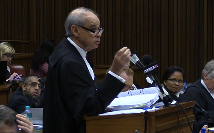 Advocate Sean Rosenberg addresses the court during the Zuma spy tapes case. Picture: Vumani Mkhize/EWN.