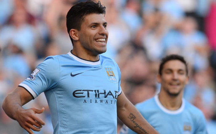 Sergio Aguero of Manchester City has returned from injury at a crucial time in the season. Picture: AFP.