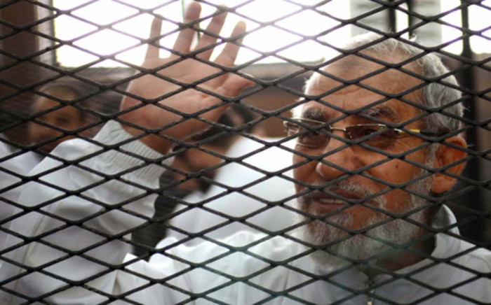 Egyptian Muslim Brotherhood's supreme guide, Mohamed Badie was among those sentenced to death. Picture: AFP.