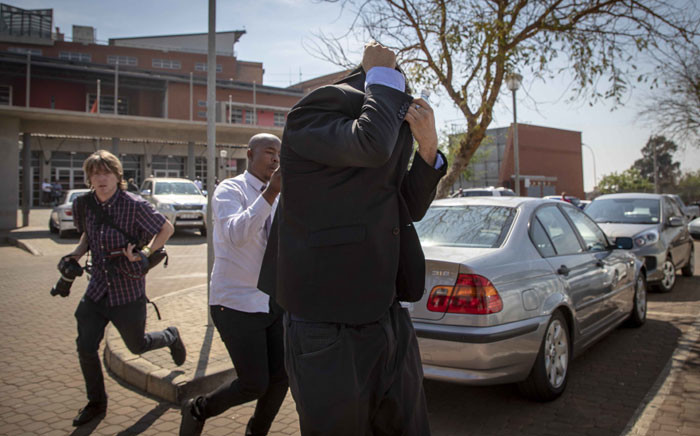 Collan Rex leaves the Palm Ridge magistrates court on 17 September 2018. Picture: Thomas Holder/EWN