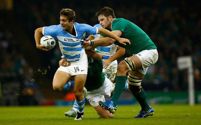 Argentina vs Ireland in the Rugby World Cup quarterfinal at the Millennium stadium in Cardiff, Wales, on 18 October 2015. Picture: Rugby World Cup @rugbyworldcup.