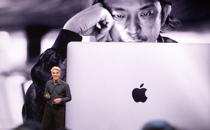 Apple's senior vice president of Software Engineering Craig Federighi speaks during Apple's Worldwide Developer Conference (WWDC) in San Jose, California on 3 June 2019. Picture: AFP