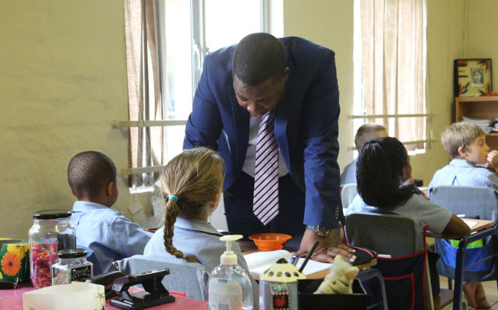 Education MEC Panyaza Lesufi visited the Curro Foundation School in Pretoria after reports of racial segregation. Picture: Christa Eybers/EWN.