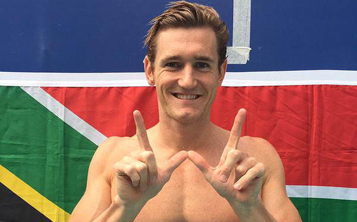 Cameron van der Burgh broke the world record in the 50 meter breaststroke at the Fina World Championships in Russia on 4 August 2015. Picture: @CameronvdBurgh via Twitter.