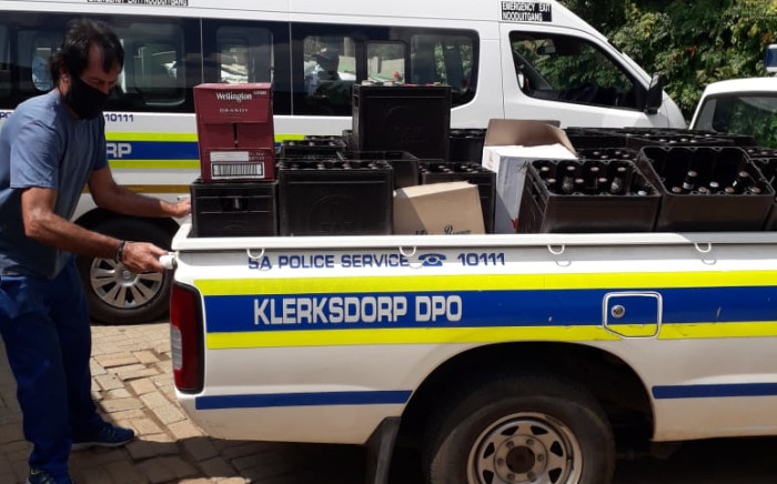 Police confiscate booze worth R125k from a North West home after a tip-off. Image: SAPS