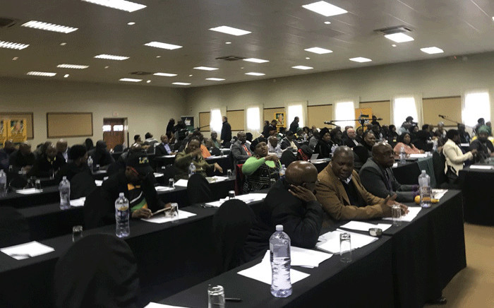 The ANC's national executive committee meeting in Centurion on Monday. Picture: Clement Manyathela/EWN.