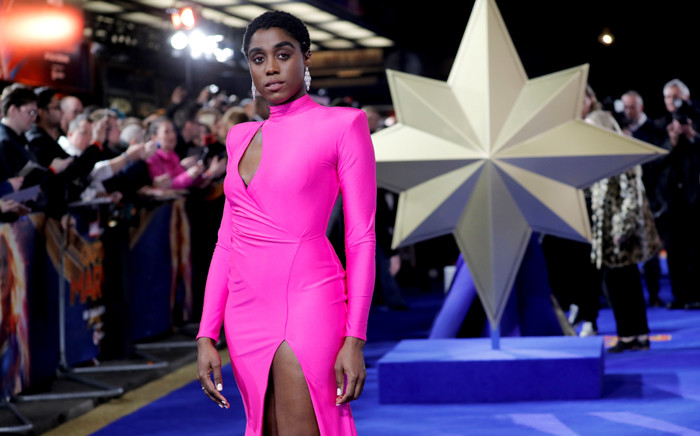 "FILE: In this file photo taken on 27 February 2019 English actor Lashana Lynch poses upon arrival for the European gala premiere of the film ""Captain Marvel"" in London. Picture: AFP."