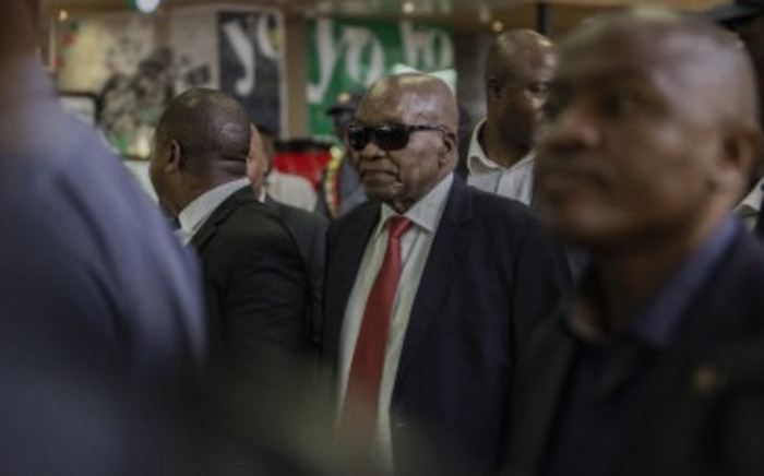Former President Jacob Zuma arrives at OR Tambo International Airport on 22 February 2020. Image: Sethembiso Zulu/ EWN