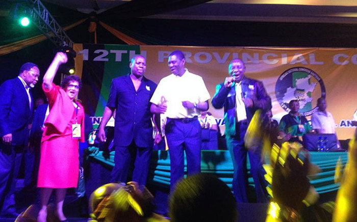 ANC senior leaders joined the party's Paul Mashatile on stage ahead of the  Gauteng ANC conference on 3 October 2014. Picture: Govan Whittles/EWN.