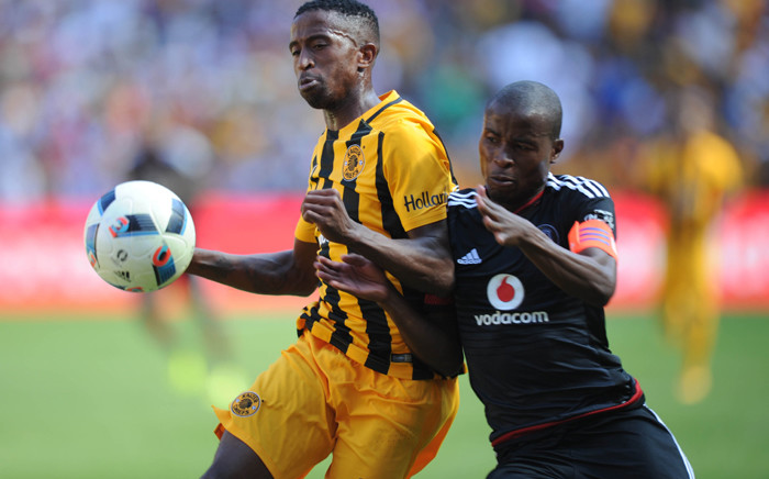 William Twala of Kaizer Chiefs is challenged by Thabo Matlaba of Orlando Pirates during the Absa Premiership match between Orlando Pirates and Kaizer Chiefs on 30 January 2016 at Willowmoore Park. Picture: BackpagePix/Sydney Mahlangu.