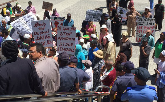 FILE: Protesting District Six resident. Picture: EWN.