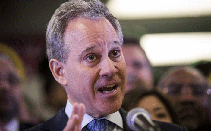 New York Attorney General Eric Schneiderman speaks at a press conference to announce a multi-state lawsuit to block the Trump administration from adding a question about citizenship to the 2020 Census form, at the headquarters of District Council 37, New York City's largest public employee union, 3 April 2018 in New York City.  Picture: AFP