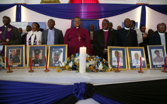 Religious leaders hold a prayer service for the victims of the Ngcobo Police Station attack. Picture: Bertram Malgas/EWN